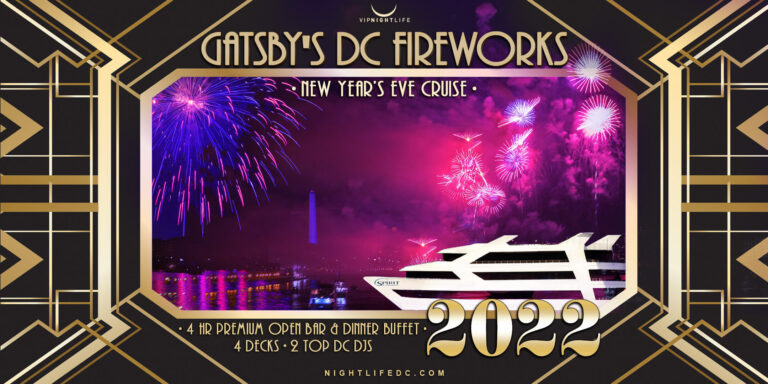 Gatsby's DC Fireworks New Year's Eve Yacht Party 2022