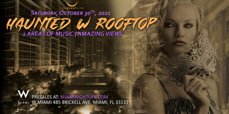Haunted W Miami Rooftop Halloween Party
