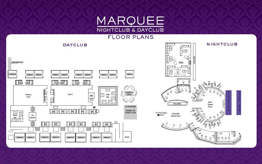 Marquee Las Vegas Venue Map