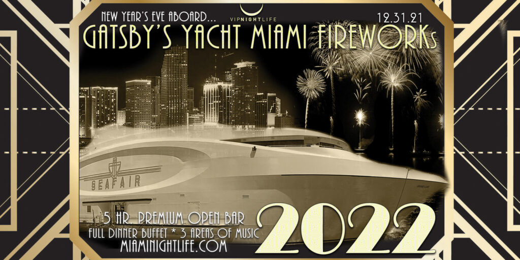 New Year's Eve 2022 Miami Fireworks Party Cruise - Seafair Mega Yacht