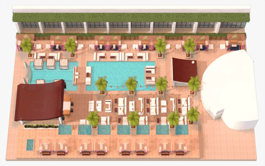 Pool Marquee Dayclub Map