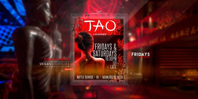 TAO Lounge Friday Las Vegas