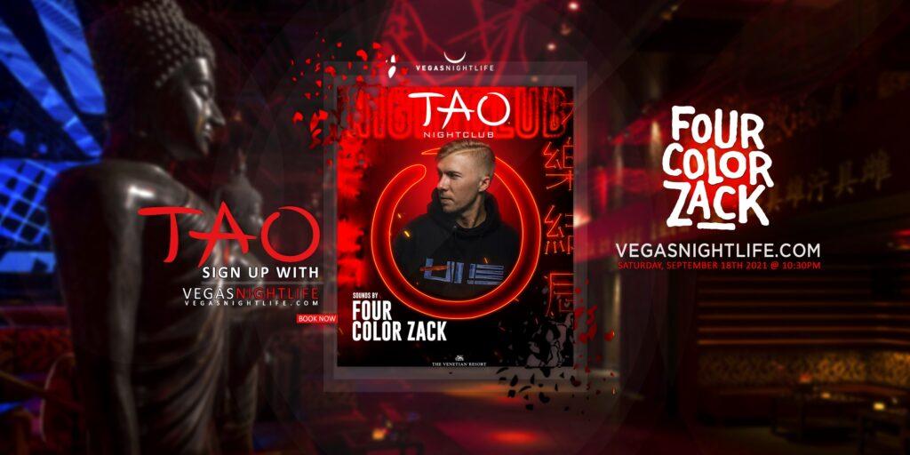 TAO Nightclub Saturday | Four Color Zack