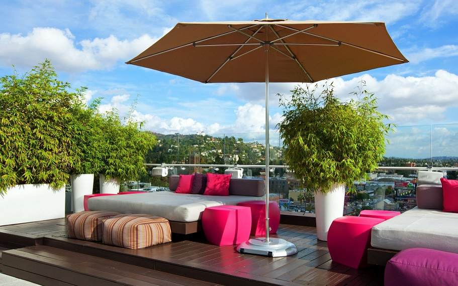 W Hollywood Rooftop Day Beds