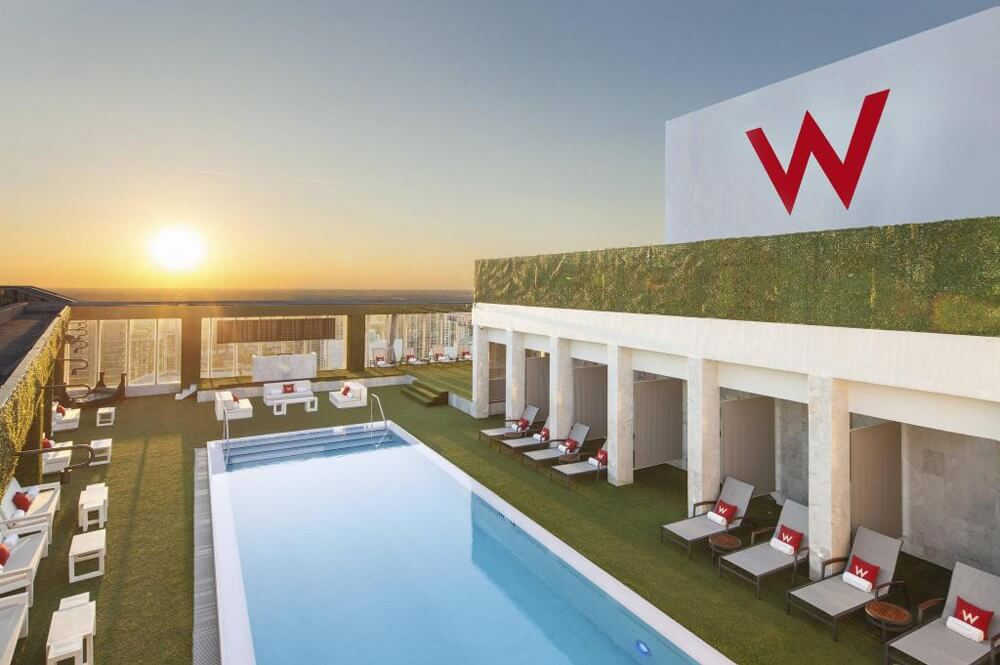 W Miami Hotel Rooftop Pool