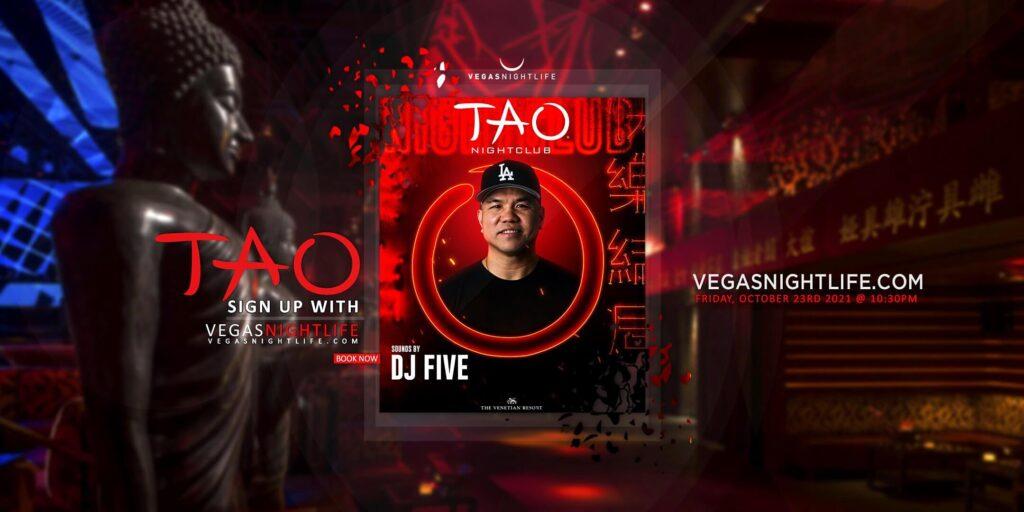 TAO Las Vegas Nightclub Saturday with DJ Five